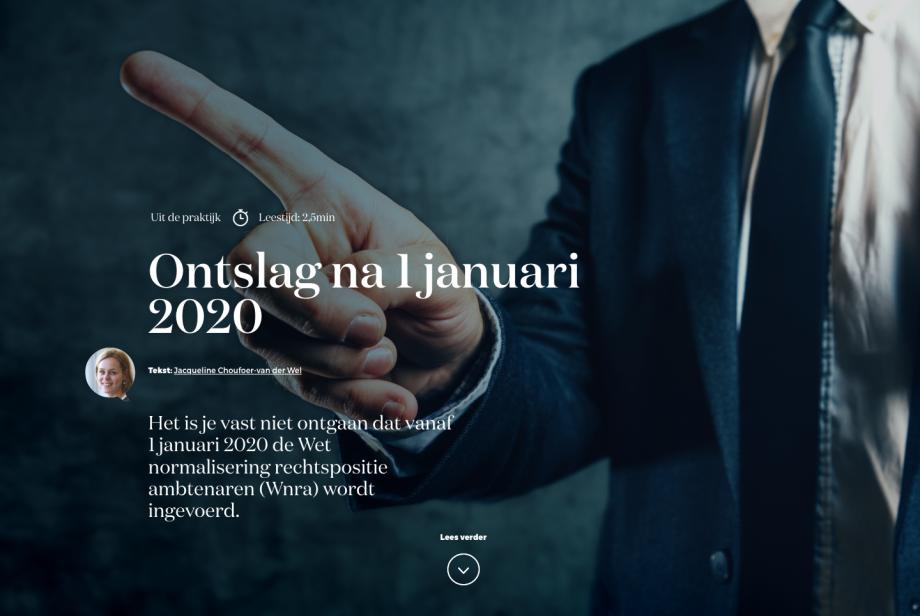 Ontslag na 1 januari 2020